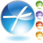 Garden Shears Crystal Icon — Stock Vector