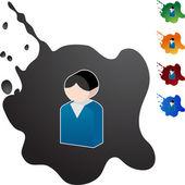 Young Man web icon — Stock Vector