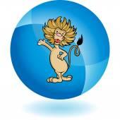 Lion web icon — Wektor stockowy