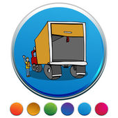Truck Safety Inspection Button Set — Stock Vector