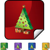 Christmas Tree icon — Stock Vector