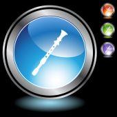 Recorder Flute Instrument — Stock Vector