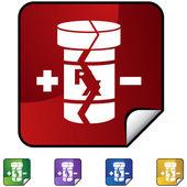 20100420134003-bijwerkingen — Stockvector