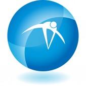 Action posing stick figure — Vettoriale Stock