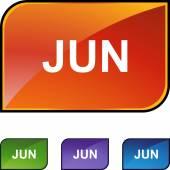 June web button — Stock Vector