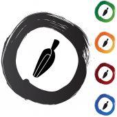 Measuring Scoop icon button — Stock Vector