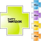 Thanksgiving web icon — Stock Vector