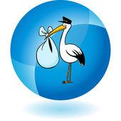 Stork Delivery icon — 图库矢量图片