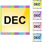 December web button — Stock Vector