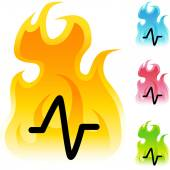 Heart Monitor web icon — Stock Vector