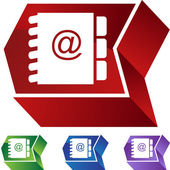Address Book web button — 图库矢量图片