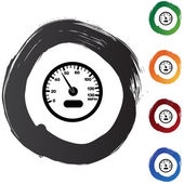 Speedometer web icon — Stockvektor