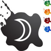 Moon web button — Stock Vector
