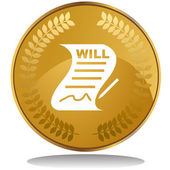 Signed Will web icon — Stock Vector