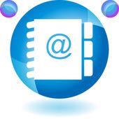 Botão de web de livro de endereço — Vetor de Stock