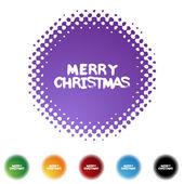 Christmas web icon — Stock Vector