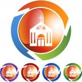 教会的 web 按钮 — 图库矢量图片