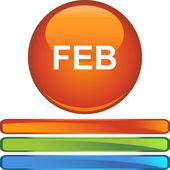 February web button — Stock Vector