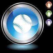 Knop set honkbal websites — Stockvector