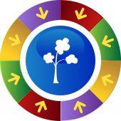 Tree icon web icon — Stock Vector