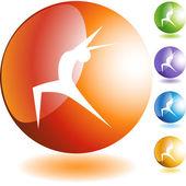Yoga Icon set — ストックベクタ
