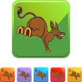 Mule web icon — Stock Vector