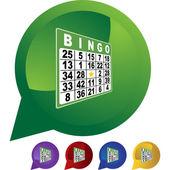 Bingo web icon — Stock Vector