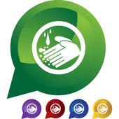 Handwashing button icon — Stock Vector