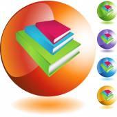 Book Stack web icon — ストックベクタ