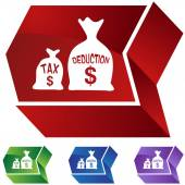 Tax Deduction web icon — Stock Vector