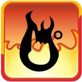 First Degree Burn icon — Stok Vektör