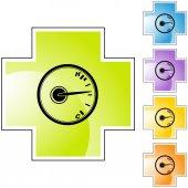 Icono de temperatura vía web — Vector de stock