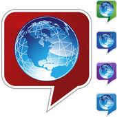 Ícone de web terra globo — Vetor de Stock
