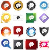 Brain Variety Set — Stock Vector