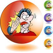 Slap on the face button — Stok Vektör