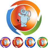 Elefante web ícone — Vetor de Stock