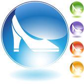 Pump Shoe Crystal Icon — Stock Vector