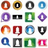 Condom button icon — Stock Vector