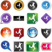 Soccer web button — Wektor stockowy