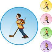 Hockey Player icon — Stock Vector