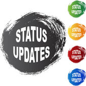Status Updates web button — Stock Vector