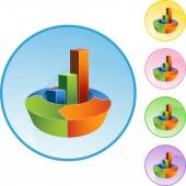 Arrow Bar Chart — Stock Vector