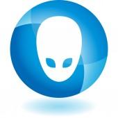 Alien Extraterrestrial  web icon — Stock Vector