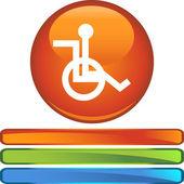 Wheelchair web icon — Stock Vector