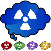 Radioactive Warning  web icon — Stock Vector
