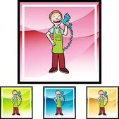 Cashier web icon — Stock Vector
