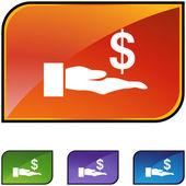 Lender web icon — Stock Vector