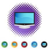 Flat Screen TV — Stock Vector