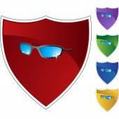 Sunglasses  web button — Stock Vector