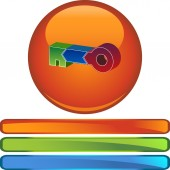 Key Stages  web button — Stock Vector